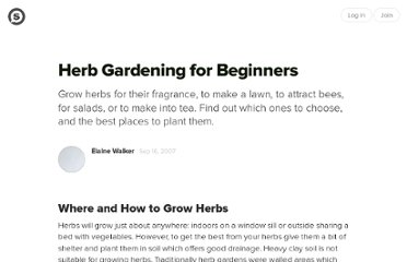 http://suite101.com/article/herb-gardening-for-beginners-a31298