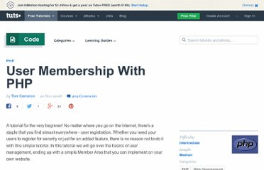 http://net.tutsplus.com/tutorials/php/user-membership-with-php/