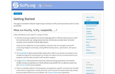 http://www.scipy.org/Getting_Started