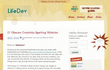 http://lifedev.net/2008/04/17-obscure-creativity-sparking-websites/