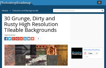 http://www.photoshoproadmap.com/Photoshop-blog/30-grunge-dirty-and-rusty-high-resolution-tileable-backgrounds/