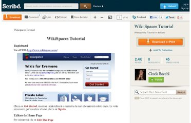 http://it.scribd.com/doc/14128500/Wiki-Spaces-Tutorial