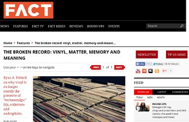 http://www.factmag.com/2012/05/09/the-broken-record-vinyl-matter-memory-and-meaning/