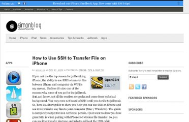 http://www.simonblog.com/2009/05/17/how-to-use-ssh-to-transfer-file-on-iphone/