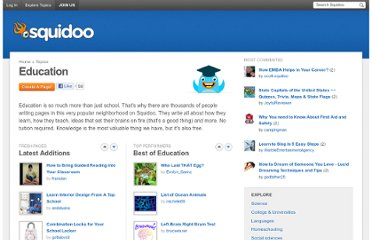 http://www.squidoo.com/topics/education