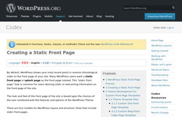 http://codex.wordpress.org/Creating_a_Static_Front_Page