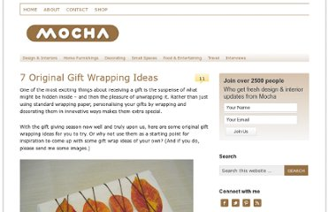 http://blog.mocha.uk.com/7-original-gift-wrapping-ideas/