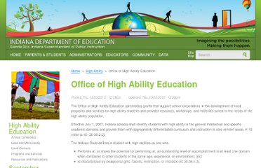http://www.doe.in.gov/achievement/individualized-learning/office-high-ability-education