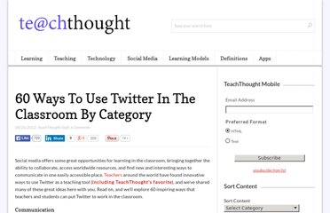 http://www.teachthought.com/social-media/60-ways-to-use-twitter-in-the-classroom-by-category/