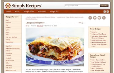 http://www.simplyrecipes.com/recipes/lasagna_bolognese/