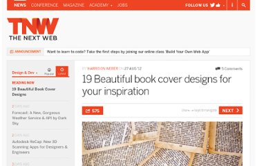 http://thenextweb.com/dd/2012/08/27/19-gorgeous-book-cover-designs-inspiration/