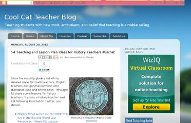 http://coolcatteacher.blogspot.com/2012/08/54-teaching-and-lesson-plan-ideas-for.html