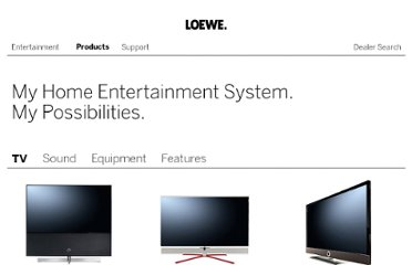 http://www.loewe.tv/uk/products.html