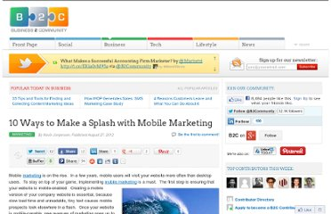 http://www.business2community.com/marketing/10-ways-to-make-a-splash-with-mobile-marketing-0262952