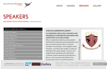 http://conference2012.hp-ventures.co.za/?q=speakers/african-leadership-academy
