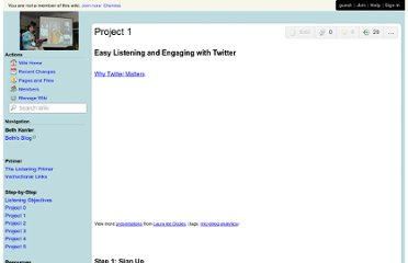 http://socialmedia-listening.wikispaces.com/Project+1