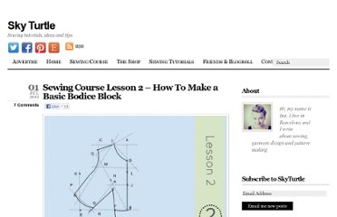 http://skyturtle.net/sewing-course-lesson-2-how-to-make-a-basic-bodice-block/
