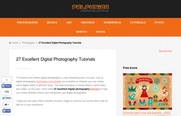 http://pelfusion.com/27-excellent-digital-photography-tutorials/