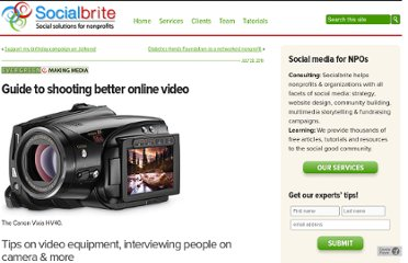 http://www.socialbrite.org/2010/07/28/guide-to-shooting-better-online-video/