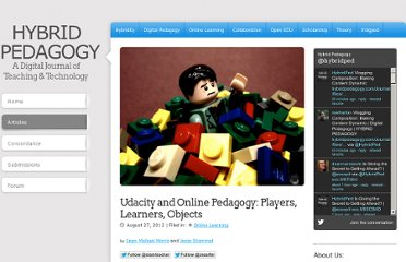 http://hybridpedagogy.com/Journal/files/Udacity_and_Online_Pedagogy.html