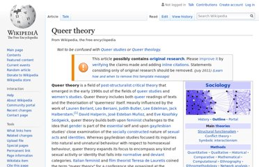 https://en.wikipedia.org/wiki/Queer_theory