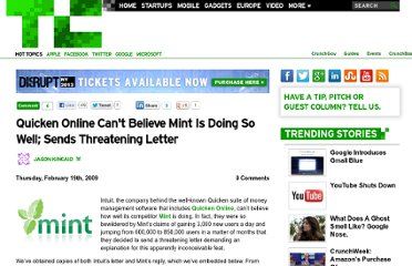 http://techcrunch.com/2009/02/19/quicken-online-cant-believe-mint-is-doing-so-well-sends-threatening-letter/