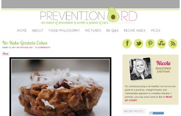 http://www.preventionrd.com/2011/06/no-bake-granola-cakes/