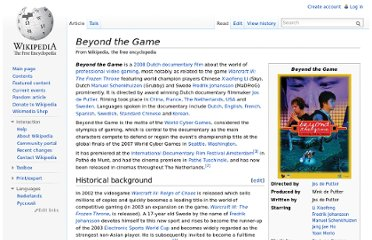 http://en.wikipedia.org/wiki/Beyond_the_Game