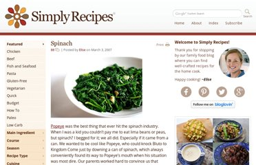 http://www.simplyrecipes.com/recipes/spinach/