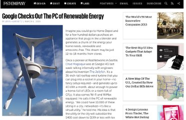 http://www.fastcompany.com/1198688/google-checks-out-pc-renewable-energy