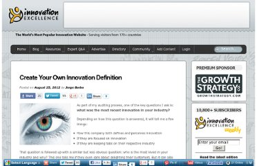 http://www.innovationexcellence.com/blog/2012/08/25/create-your-own-innovation-definition/