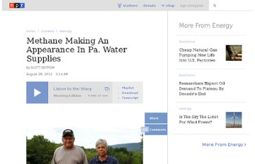 http://www.npr.org/2012/08/28/160128351/methane-making-an-appearance-in-pa-water-supplies