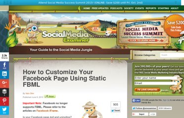 http://www.socialmediaexaminer.com/how-to-customize-your-facebook-page-using-static-fbml/