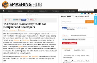 http://smashinghub.com/15-effective-productivity-tools-for-designer-and-developers.htm