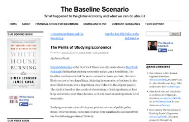 http://baselinescenario.com/2010/06/08/the-perils-of-studying-economics/