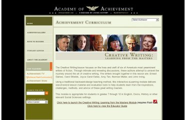 http://www.achievement.org/autodoc/pagegen/curriculum/creative_writing/index.html
