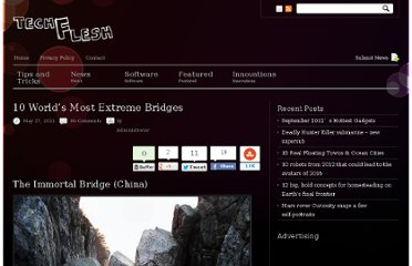 http://techflesh.com/10-worlds-most-extreme-bridges/