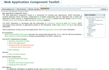 http://www.phpwact.org/#web_application_component_toolkit