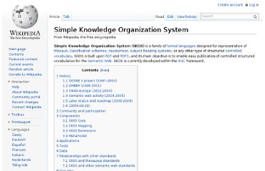 http://en.wikipedia.org/wiki/Simple_Knowledge_Organization_System