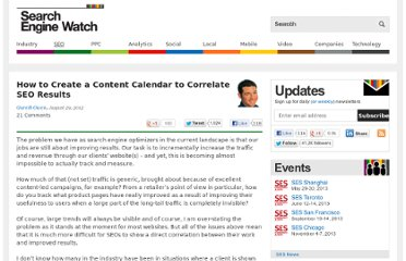 http://searchenginewatch.com/article/2201442/How-to-Create-a-Content-Calendar-to-Correlate-SEO-Results
