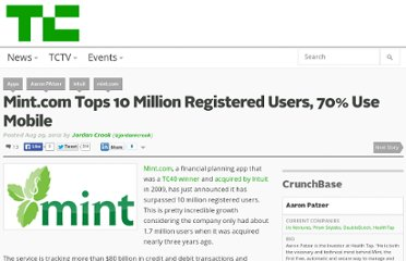 http://techcrunch.com/2012/08/29/mint-com-tops-10-million-registered-users-70-come-from-mobile-vs-web/