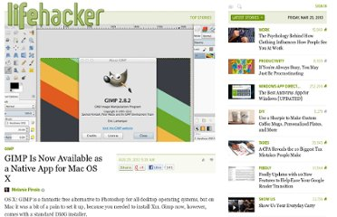 http://lifehacker.com/5938890/gimp-is-now-available-as-a-native-app-for-mac-os-x