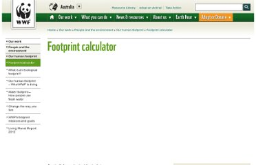 http://www.wwf.org.au/footprint/calculator/