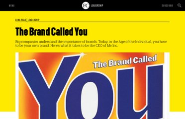 http://www.fastcompany.com/28905/brand-called-you