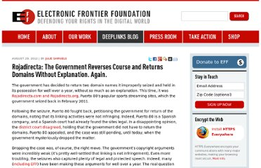 https://www.eff.org/deeplinks/2012/08/rojadirecta-government-reverses-course-and-returns-domains-without-explanation