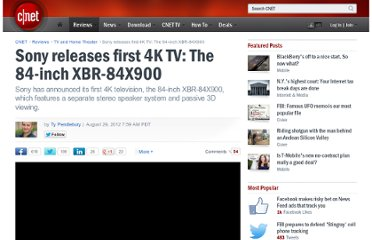 http://reviews.cnet.com/8301-33199_7-57502521-221/sony-releases-first-4k-tv-the-84-inch-xbr-84x900/