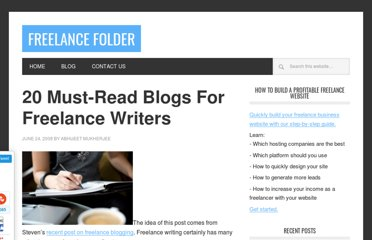 http://freelancefolder.com/20-must-read-blogs-for-freelance-writers/