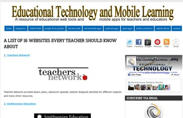 http://www.educatorstechnology.com/2012/08/great-teacher-websites.html