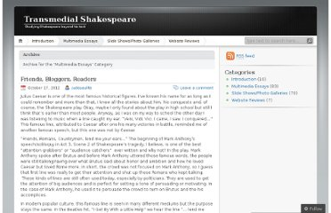 http://transmedialshakespeare.wordpress.com/category/multimedia-essays/