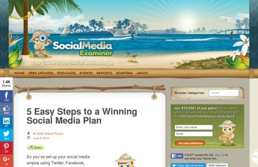 http://www.socialmediaexaminer.com/5-easy-steps-to-a-winning-social-media-plan/